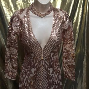 Gorgeous gold sequin dress size small